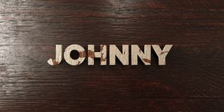 Johnny - grungy wooden headline on Maple  - 3D rendered royalty free stock image Royalty Free Stock Image
