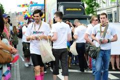 Johnny.ie au défilé le 26 juin 20 de fierté de Dublin LGBT Image libre de droits