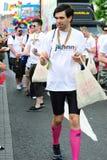 Johnny.ie au défilé le 26 juin 20 de fierté de Dublin LGBT Images libres de droits