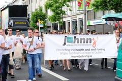 Johnny.ie en el desfile el 26 de junio de 20 del orgullo de Dublín LGBT Foto de archivo