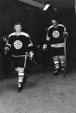 Johnny McKenzie e Gary Doak, Boston Bruins Foto de Stock Royalty Free