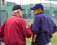 Johnny Pesky and Ichiro Stock Images