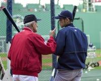 Johnny Pesky und Ichiro Lizenzfreies Stockfoto