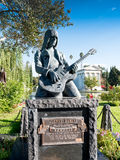 Johnny Ramone Statue In Hollywood Forever Cemetery. Guitarist Johnny Ramone, was a founding member of the legendary Ramones.  A Punk Rock legend named in Time Royalty Free Stock Images