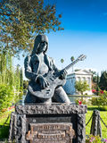 Johnny Ramone Statue In Hollywood Forever Cemetery. Guitarist Johnny Ramone, was a founding member of the legendary Ramones.  A Punk Rock legend named in Time Stock Photography