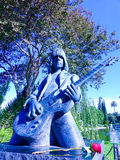 Johnny Ramone Statue In Hollywood Forever Cemetery. Guitarist Johnny Ramone, was a founding member of the legendary Ramones.  A Punk Rock legend named in Time Stock Photos