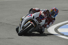 Johnny rea on the honda, WSBK 2012 Royalty Free Stock Photo