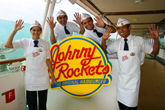 Johnny Rockets on the  Stock Image