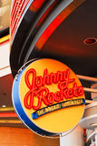 Johnny Rockets neon sign Royalty Free Stock Photo