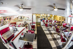 Johnny Rockets restaurant at the Ocean Drive in Miami Royalty Free Stock Photos
