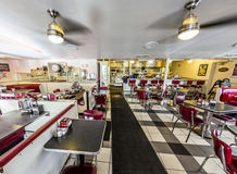 Johnny Rockets restaurant at the Ocean Drive in Miami Royalty Free Stock Photography