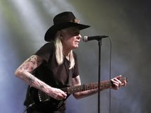 Johnny Winter. Blues Guitarist Johnny Winter in concert  November 19, 2011 in Winterbach, Germany Royalty Free Stock Images