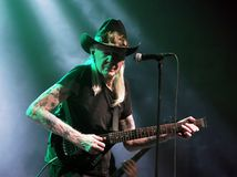 Johnny Winter. Blues Guitarist Johnny Winter in concert  November 19, 2011 in Winterbach, Germany Stock Photography