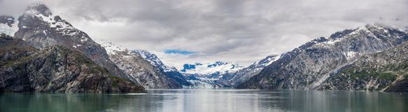 Johns Hopkins Glacier and mountains stock images