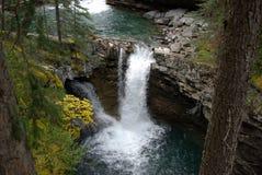 Johnson canyon waterfall Stock Image