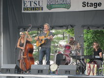 Johnson City - голубой фестиваль сливы - музыкальный спектакль ETSU Стоковое фото RF