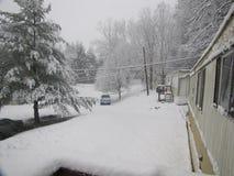 Johnson City - зима парка трейлера Стоковые Фото