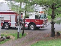 Johnson City - пожарная машина отвечает звонку 911 Стоковые Изображения RF