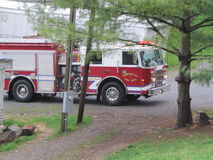 Johnson City - Antwoorden 911 van de Brandvrachtwagen Vraag Royalty-vrije Stock Afbeeldingen
