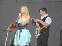Johnson City - Blauwe Plum Festival - Muzikale prestaties Stock Fotografie