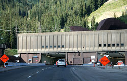 Johnson et tunnels d'Eisenhower images stock