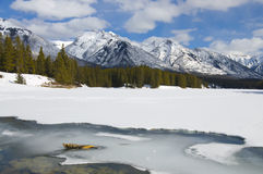 Johnson Lake Frozen Over Stock Photography