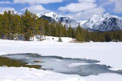 Johnson Lake Frozen Over Royalty Free Stock Image