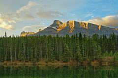 Johnson_lake_rundle Stock Photos