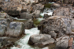 Johnson Shut Ins. Waterfalls at Johnson Shuts Ins State Park, Missouri royalty free stock photography