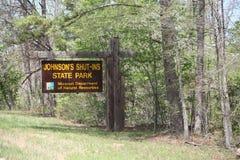 Johnson Shut-Ins State Park en Missouri foto de archivo libre de regalías