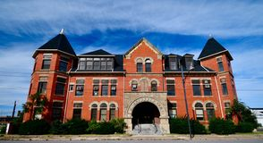 Johnson Stal Ulica Kolej Firma siedziby głownej budynek obraz stock