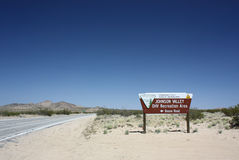 Johnson Valley California OHV Area Sign. Johnson Valley, California, in the Mohave desert is home to many Off Highway Vehicle (OHV) races. The most famous being royalty free stock photo