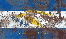 Johnston Atoll  grunge flag, United States dependent territory f. Lag Stock Photography