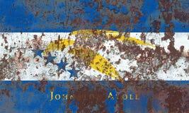 Johnston Atoll grungeflagga, beroende territorium f för Förenta staterna arkivbild
