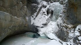 Johnston Canyon Fotografia Stock