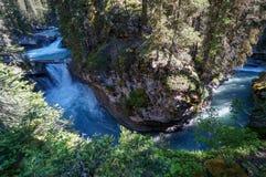 Johnston Canyon en el parque nacional de Banff Fotografía de archivo