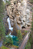 Johnston Canyon Falls Stock Photo
