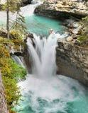 Johnston Canyon Falls, Banff NP Images stock