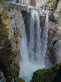 Johnston Canyon Trail, ober und niedriger Fälle, Nationalpark Banffs, Kanadier Rocky Mountains, Alberta, Kanada lizenzfreie stockbilder
