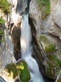 Johnston Canyon Waterfall, Canada Royalty Free Stock Photography