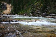 Johnston Canyon Waterfalls Stock Photo