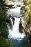 Johnston Canyon Waterfalls Stock Image
