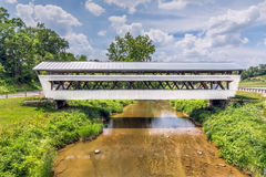 Johnston Covered Bridge Royalty-vrije Stock Afbeelding