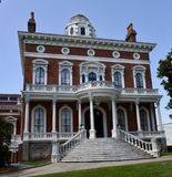 Johnston-Felton-Hay House. This is a Summer picture of the Johnston-Felton-Hay House located in Macon, Georgia in Bibb County. The house was designed by T stock images
