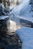 Johnston jar, Banff park narodowy w zimie, obraz royalty free