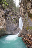 Johnston Lower falls, Alberta stock photography