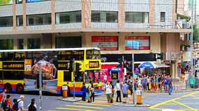 Johnston road, wanchai, hong kong Royalty Free Stock Photography