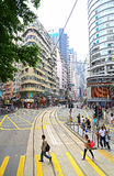 Johnston road, wanchai, hong kong Royalty Free Stock Photos