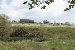 Johnstown全国洪水纪念品,昂格尔议院,南叉水坝 免版税库存照片