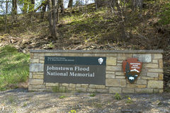 Johnstown Flood National Memorial sign Royalty Free Stock Photography